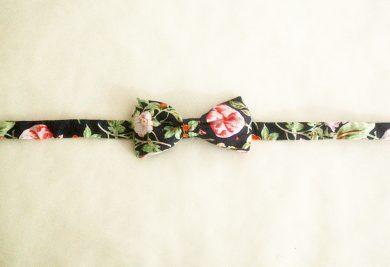 noeud papillon enfant anvers motif fleur vintage