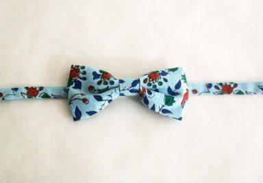 neoud papillon motif fleur coton japonais