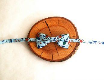 noeud papillon enfant motif japonais fleur
