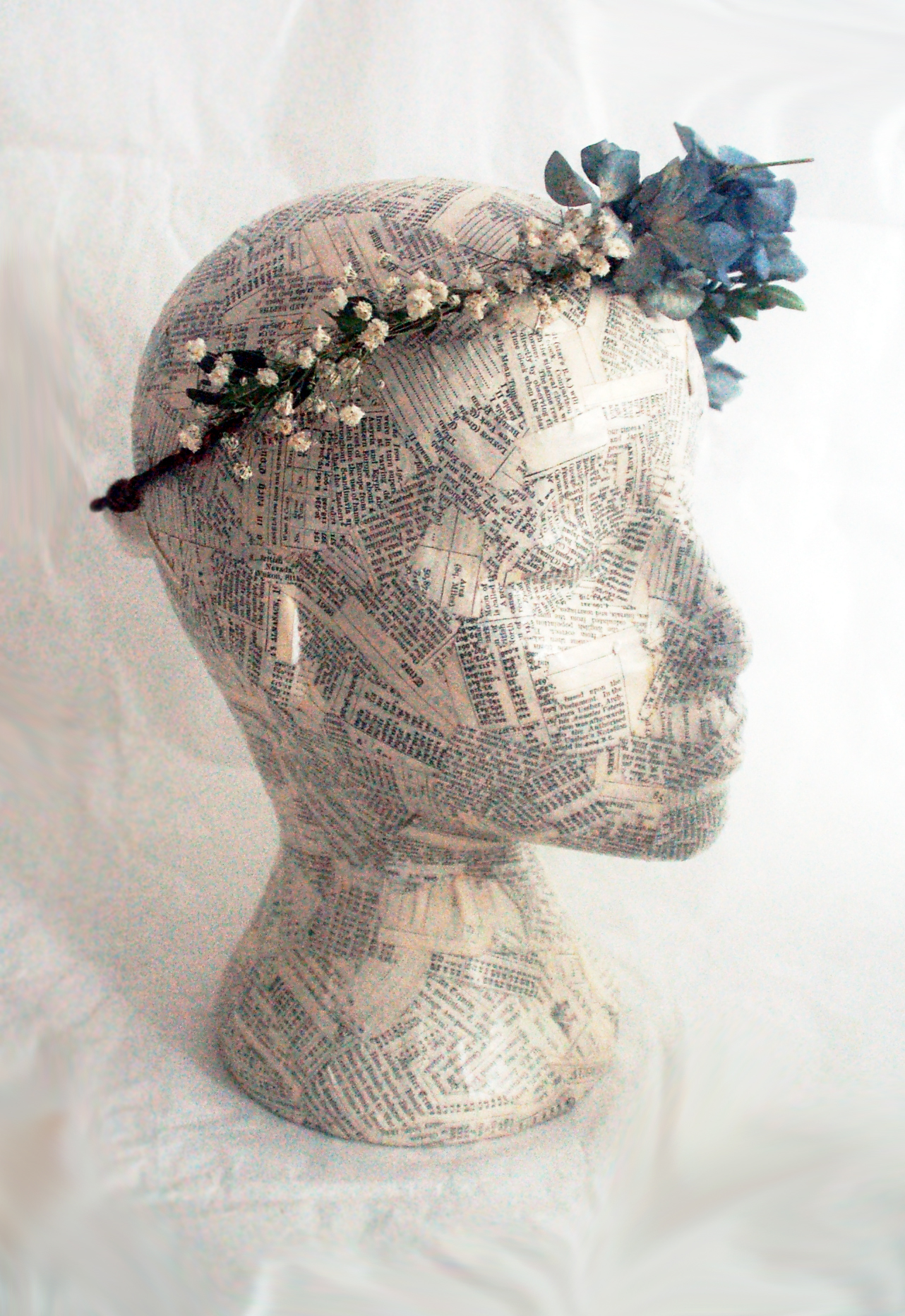 Hydrangea And Baby Breath Flower Crown Jt Accessories Hair